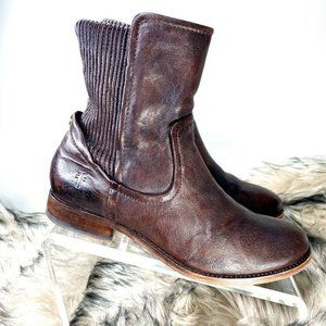 FRYE Women's Short Brown Leather Ankle Boots 6